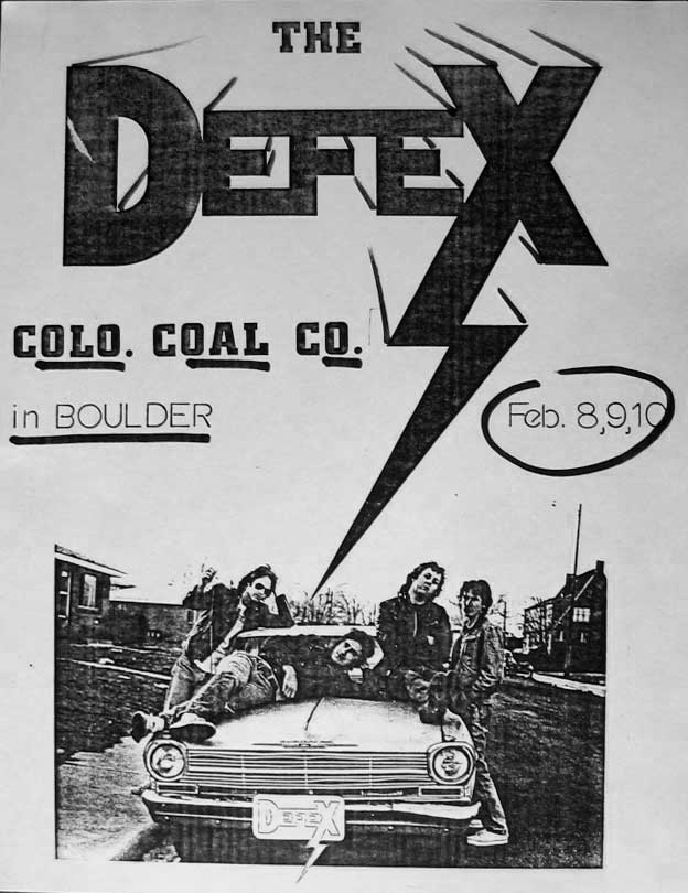 Defex @ The Coal Co., 1979