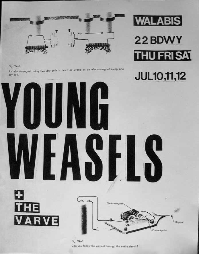 Young Weasels & The Varve, 1980